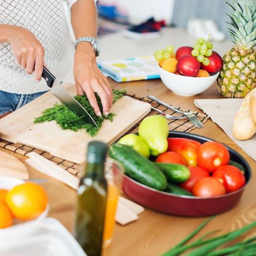 Muestra de productos para cocinar saludable